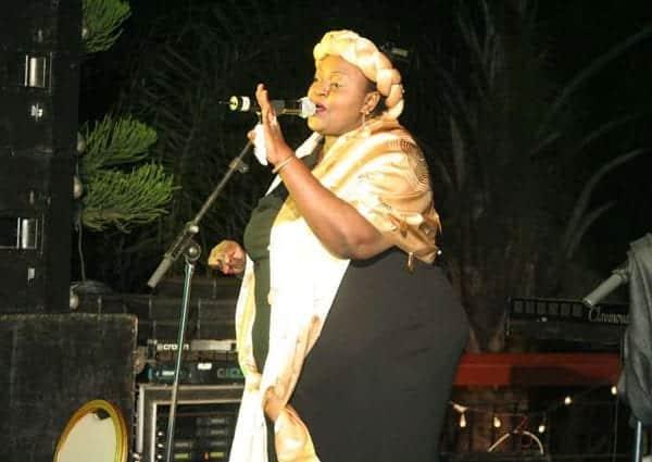 Achieng Abura on stage