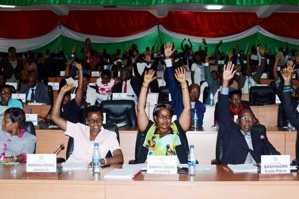 Members of Burundi's lower house of Parliament