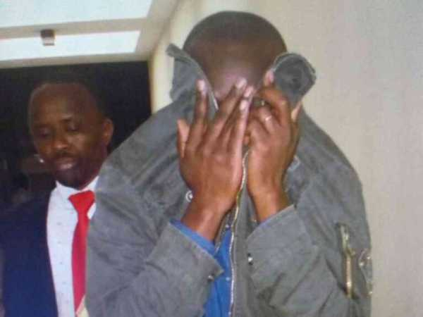 Douglas Nyakundi, who appeared at Milmani law courts, in a matter concerning the death of businessman Jacob Juma, December 1, 2016. /MONICAH MWANGI