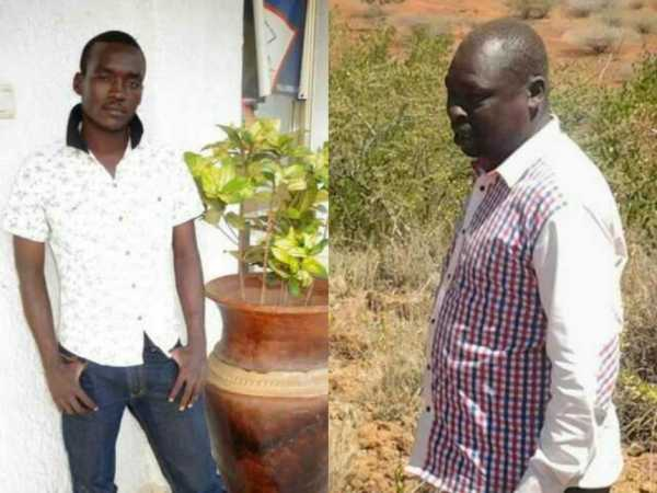 Loyamorok ward representative Kibet Cheretei and Pepe Kitambaa (Tiaty MP Jubilee hopeful) who were killed on Saturday, February 18, 2017.  /JOSEPH KANGOGO. /JOSEPH KANGOGO