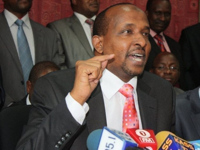 Majority leader Aden Duale