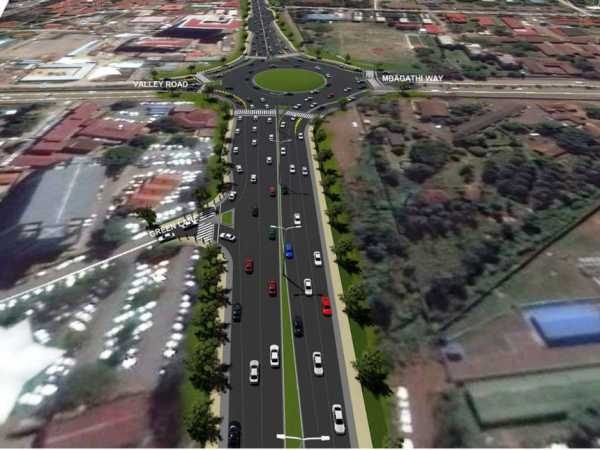 An artistic impression of the proposed Ngong road.The Government has cancelled a notice to tender expansion of the third phase of Ngong Road as the cost of the project hikes to 1.5 Billion..