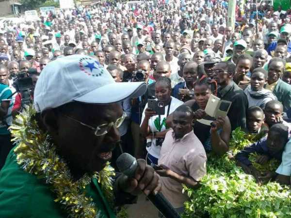 Moses Wetang'ula, who is Bungoma Senator and Ford Kenya party boss, addresses  residents of Sirisia constituency, March 12, 2017. /BRIAN OJAMAA