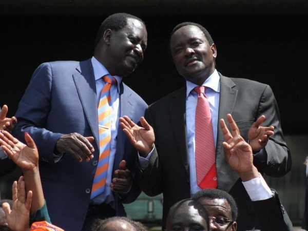 Raila Odinga with Kalonzo Musyoka yest. Photo/ Jack Owuor