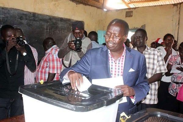 Baringo Governor Benjamin Cheboi casts his vote