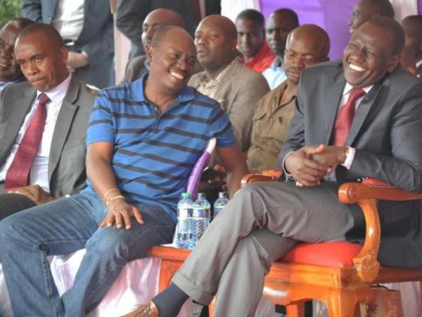 Deputy President William Ruto and Kiambu Governor William Kabogo during a fundraising for SDA Church in Kimbo, Githurai in Kiambu County on September 22, 2014. Photo/FILE
