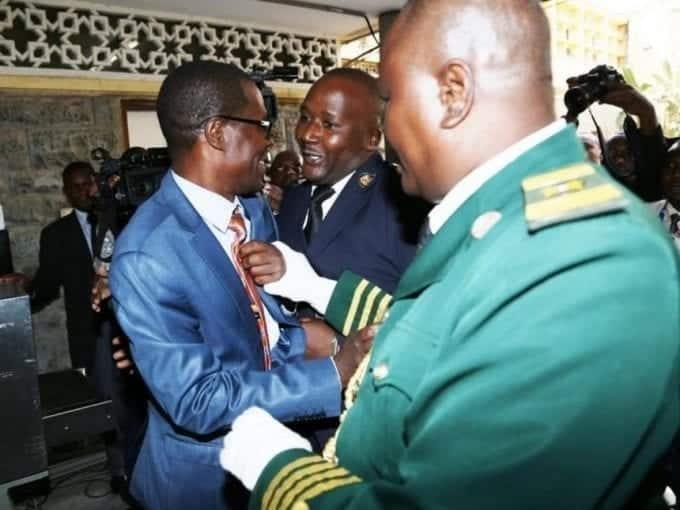 A file photo of Ugunja MP Opiyo Wandayi being ejected from the chamber for disrupting President Uhuru Kenyatta's State of the Nation address.