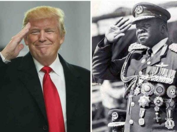 US President Donald Trump and African dictator Idi Amin/ EPA AND REUTERS