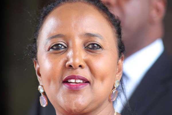 Cabinet Secretary Amina Mohamed. She says
