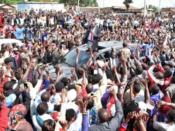 Deputy President William Rutoaddresses Jubilee Party supporters at Kaptumo in Nandi county on September 24, 2017. /REBECCA NDUKU/DPPS