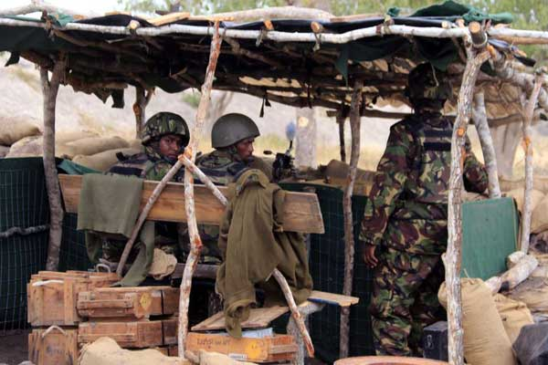 Kenya Defence Forces soldiers serving under the