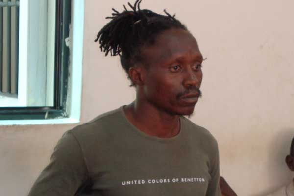 Mr Japeth Mulewa before a Malindi court on