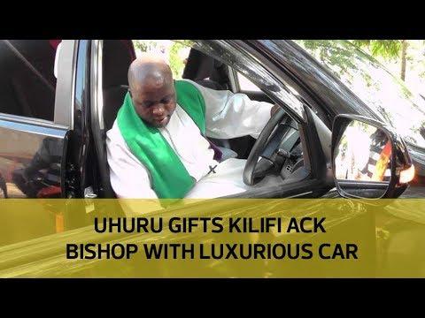 Image result for VIDEO: Uhuru Gifts Kilifi Bishop Sh5 Million Prado