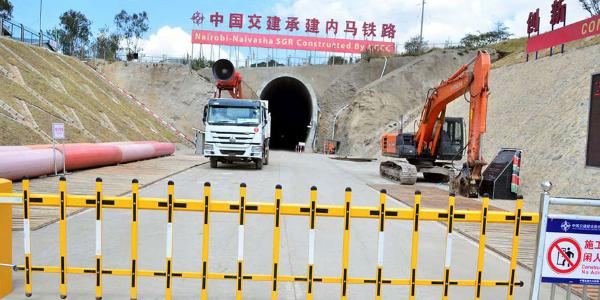 The SGR Nairobi-Naivasha tunnel at Embulbul. FILE PHOTO | NMG