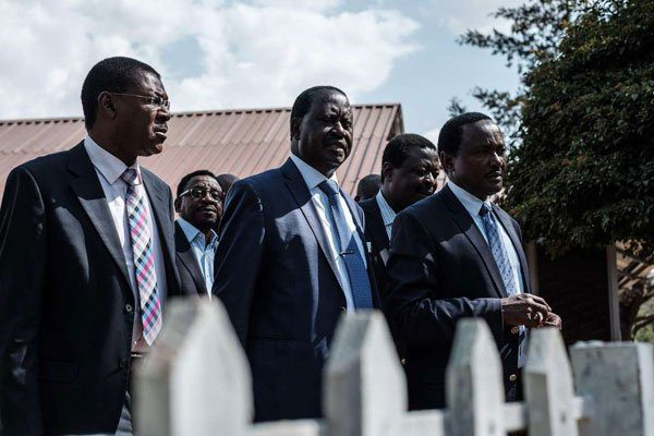 National Super Alliance leader Raila Odinga