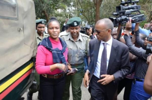 Sarah Wairimu (left) with her lawyer Philip Murgor. The judge ordered Sarah Wairimu Cohen to be present during the post mortem.